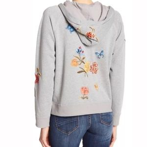 Driftwood embroidery zip hoodie